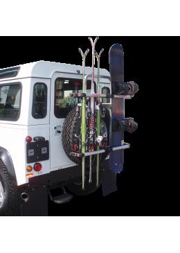 Portes-skis FABBRI GRINGO SKI & BOARD pour fixation sur roue de secours