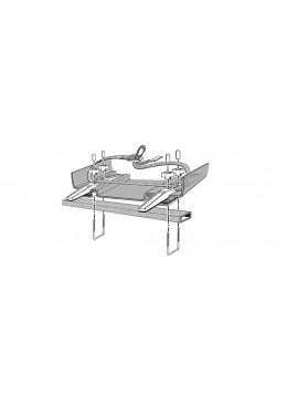 """Kit de montage pour fixation en """"U"""" pour système de montage à rails coulissants confort"""