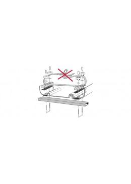 """Kit de montage pour fixation en """"U"""" pour système de montage à rails coulissant simple"""