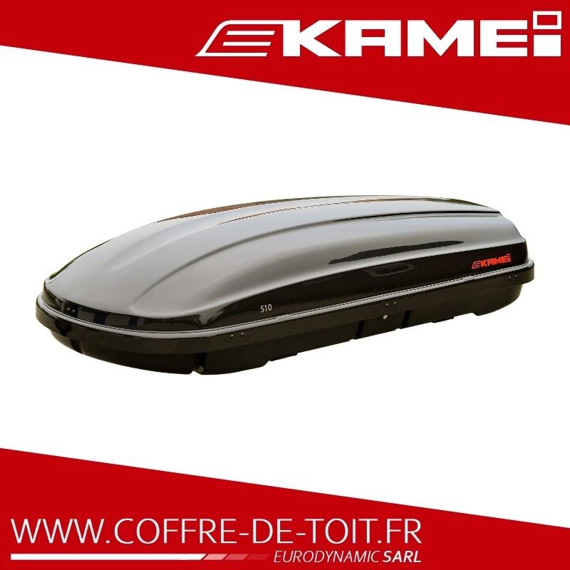 Coffre de toit Kamei 510 noir brillant