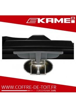 Coffre de toit Kamei Corvara S 475 noir brillant