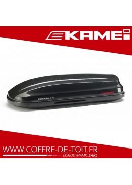 Coffre de toit Kamei Corvara S 390 noir brillant