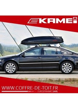 COFFRE DE TOIT KAMEI CORVARA 475L DUOLIFT NOIR METALLISE