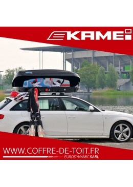 COFFRE DE TOIT KAMEI HUSKY XXL NOIR MAT
