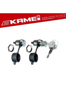 Kit barillets + clés pour coffre de toit Kamei